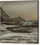 Sundown Over The Ocean Rocks Acrylic Print