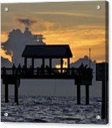 Sundown Pier Acrylic Print
