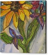 Sunflower And Friends Acrylic Print
