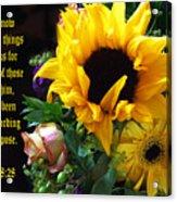 Sunflower Bouquet  Acrylic Print