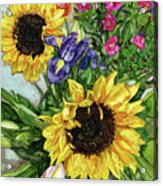Sunflower Bouquet Acrylic Print