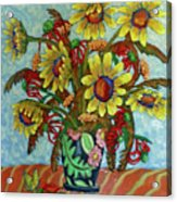 Sunflower Bouquet With Butterfly Acrylic Print