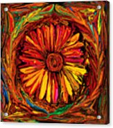 Sunflower Emblem Acrylic Print