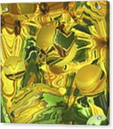 Sunflower Orb Glow Acrylic Print