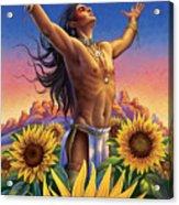 Sunflower - Glorious Success Acrylic Print by Anne Wertheim