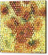Sunflower Mosaic Acrylic Print