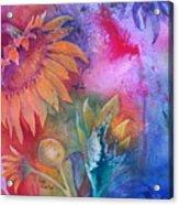 Sunflower Splash Acrylic Print