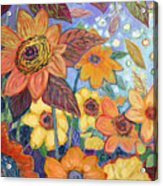 Sunflower Tropics Part 1 Acrylic Print