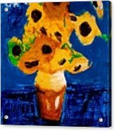 Sunflowers After Vincent Van Gogh Acrylic Print