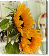 Sunflowers And Afternoon Tea Acrylic Print