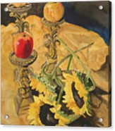 Sunflowers And Apples Acrylic Print