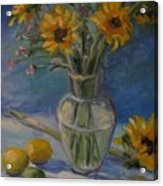 Sunflowers And Citrus Acrylic Print