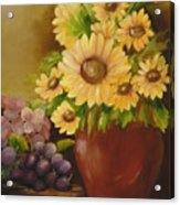 Sunflowers And Grapes Acrylic Print