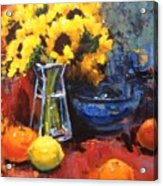 Sunflowers And Oranges Acrylic Print