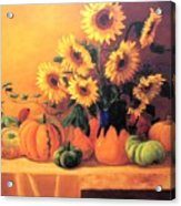 Sunflowers And Squash Acrylic Print