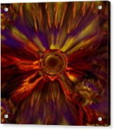 Sunflowers Expressive Acrylic Print
