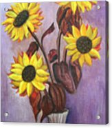 Sunflowers For My Daughter Acrylic Print