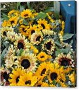 Sunflowers For Sale Acrylic Print