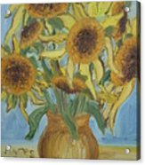 Sunflowers II. Acrylic Print