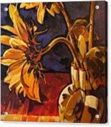 Sunflowers In Italian Vase Take Two Acrylic Print
