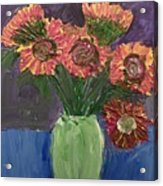 Sunflowers In Vase Acrylic Print