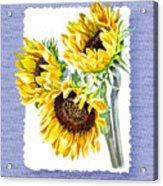 Sunflowers On Baby Blue Acrylic Print