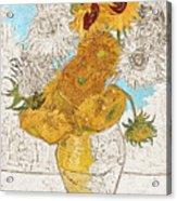 Sunflowers Van Gogh Digital Art Acrylic Print