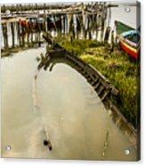 Sunken Fishing Boat Acrylic Print