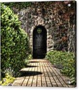 Sunken Garden Doorway Acrylic Print