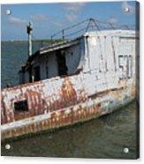 Sunken Shrimpboat Acrylic Print