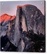 Sunkiss On Half Dome Acrylic Print