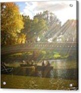 Sunlight And Boats - Central Park -  New York City Acrylic Print