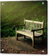 Sunlight On Park Bench Acrylic Print