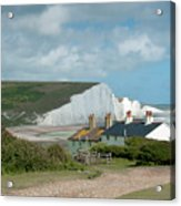 Sunlight On The Seven Sisters Acrylic Print