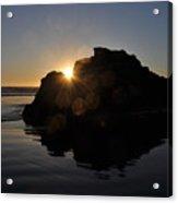 Sunlight Through The Rock Acrylic Print