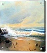 Sunlit Beach Acrylic Print