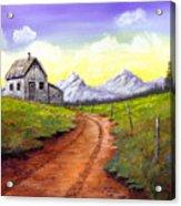 Sunlit Cabin Acrylic Print