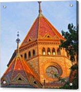 Sunlit Church Aglow Acrylic Print
