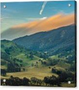Sunlit Clouds On A Ridge Acrylic Print