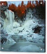 Sunlit Edge Of The Moraine Falls Acrylic Print
