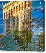 Sunlit Flatiron Spring Acrylic Print