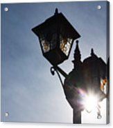 Sunlit Jewels - Stained Glass Lamps And Sunburst Right Acrylic Print