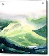 Sunlit Mountain Acrylic Print