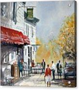 Sunlit Sidewalk - Neshkoro Acrylic Print