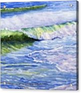 Sunlit Surf Acrylic Print