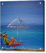 Sunloungers Acrylic Print