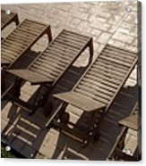 Sunning Chairs Acrylic Print