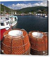Sunny Cape Breton Harbor Acrylic Print