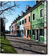 Sunny Colors Of Burano Acrylic Print