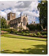 Sunny Day At Hexham Abbey Acrylic Print